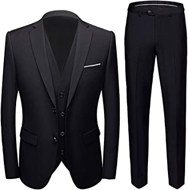 Two Buttons 3 Pieces Men S Suits Single Breasted Wedding Suits Groom Tuxedos Amazon Co Uk Clothing