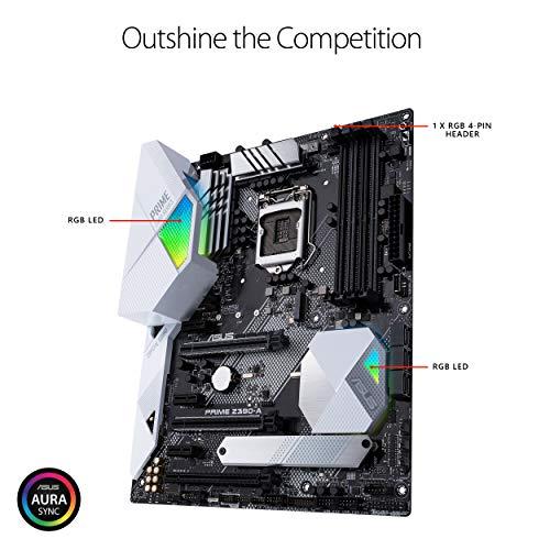 Asus PRIME Z390-A Intel ATX LGA 1151 Scheda Madre, AI Overclocking, DDR4 4266 MHz, Doppio M.2, HDMI, Predisposizione Memoria Intel Optane, SATA 6Gb/s, USB 3.1 Gen 2 Type-C, Nero