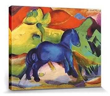 1art1 87106 Franz Marc Das Kleine Blaue Pferdchen 1912 Leinwandbild Auf Keilrahmen 50 X 40 Cm