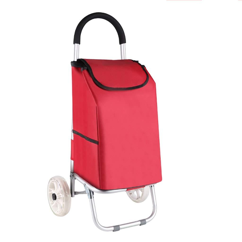 贅沢 軽量アルミ合金折りたたみランドリー、ショッピングトロリーバッグ、ハードウェア B07QLSJV44&折りたたみ簡単収納用折りたたみ式カート、引き出し付きカート (色 : 赤 赤) 赤) 赤 B07QLSJV44, 丸山町:9c0defe0 --- a0267596.xsph.ru