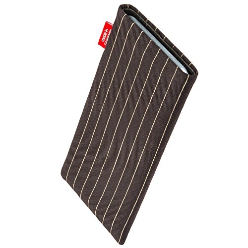 fitBAG Twist Brown custom tailored sleeve for ARCHOS 40 Cesium. Fine suit fabric pouch with integrated MicroFibre lining for display cleaning