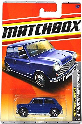 Mattel Year 2010 Matchbox MBX Heritage Classics Series 1:64 Scale Die Cast Car #19 - Navy Blue '64 AUSTIN MINI COOPER S (T8904)