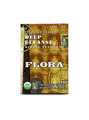 - FLORA Deep Cleanse 16 Tea Bags, 0.03 Pound