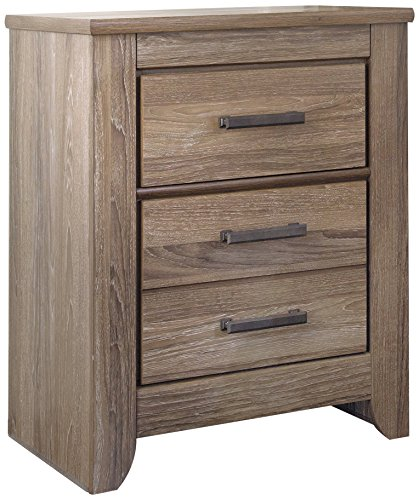 Ashley Furniture Signature Design - Zelen Nightstand - Vintage Finish - Warm Gray (Ashley Furniture Bedroom)