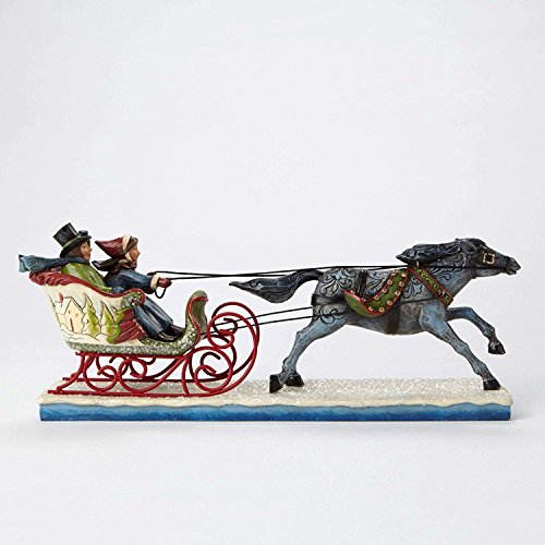(Jim Shore for Enesco Heartwood Creek Victorian Couple in Sleigh Figurine, 5.125