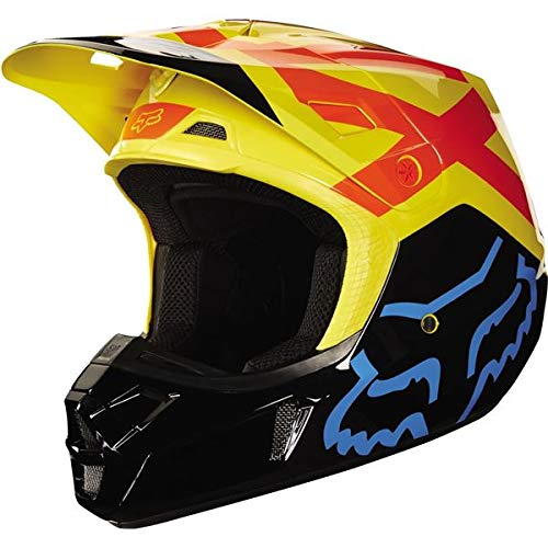 2018 Fox Racing V2 Preme Helmet-Black/Yellow-M ()
