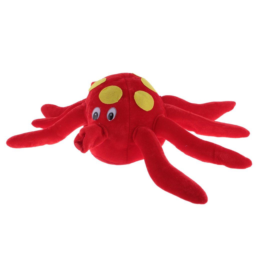 Dovewill Novelty Fun Unisex Costume Warm Hat Octopus Cuttlefish Sea Animal Velvet Hat with Legs Present Christmas Fancy Dress Props