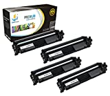 Catch Supplies CF217A - 17A Premium Black Replacement Toner Cartridge Four Pack Compatible with HP LaserJet Pro M102w, M102a, MFP M130nw, M130fw, M130fn, M103a Laser Printers |1,600 Yield|