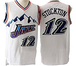 9fc265d35 ... Mens Adult 12 John Stockton Jersey White 12 John Stockton Authentic ...