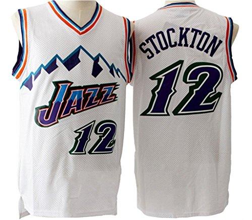 Men's Adult #12 John Stockton Jersey - Number Stockton