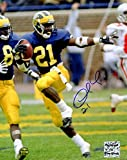 Desmond Howard Signed Michigan Wolverines Heisman Pose 8x10 Photo