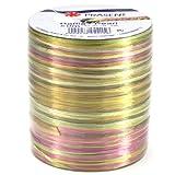 Morex Ribbon Pearl Raffia Fabric Ribbon Spool, 55-Yard, Multi Color