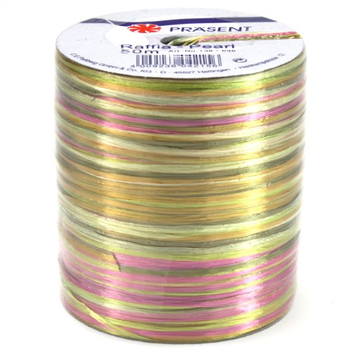 Multi Color Raffia (Morex Ribbon Pearl Raffia Fabric Ribbon Spool, 55-Yard, Multi Color)