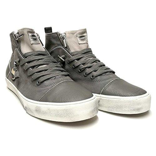 Colmar sneakers Durden uomo tomaia cotone con inserti pelle dark grey/beige