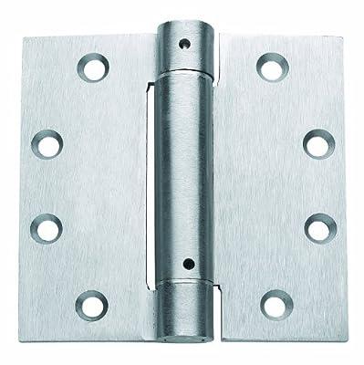 Global Door Controls 4.5 in. x 4.5 in. Brushed Chrome Steel Spring Hinge - Set of 3