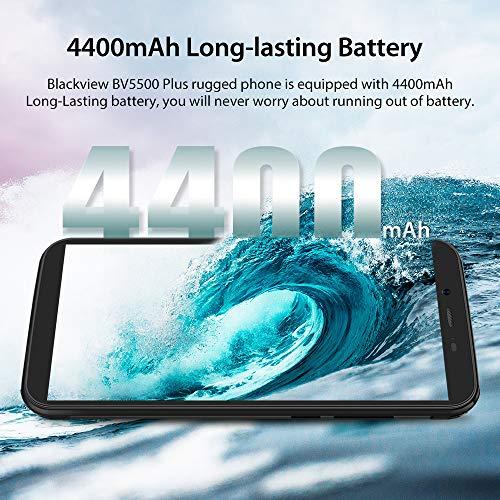 Téléphone Portable Incassable, Blackview BV5500Plus Smartphone Débloqué Antichoc Étanche Pas Cher 4G Android 10, 32Go… 5
