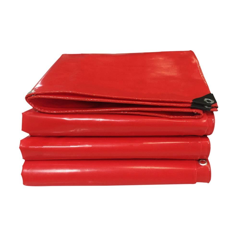 赤い 二重防水シート、日焼け止めと引き裂き抵抗性防水シートキャンプカバー (サイズ さいず : 4x5m) 4x5m  B07PS65NXY