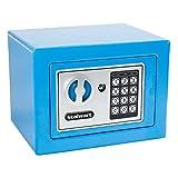 Stalwart 65-E17-BLUE Steel Digital Steel Security Safe for Valuables, Blue