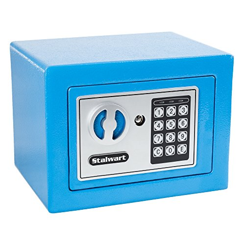 Stalwart 65-E17-B Electronic Deluxe Digital Steel Safe, Blue Blue Steel Safety Cabinets