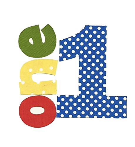 green applique numbers - 1
