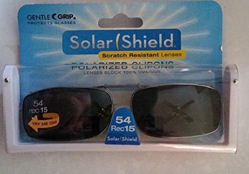 Solar Shield Polarized Clip-on Sunglasses 54 Rec 15 Gray Lenses Fits Full - Walmart Clip Sunglasses Polarized On