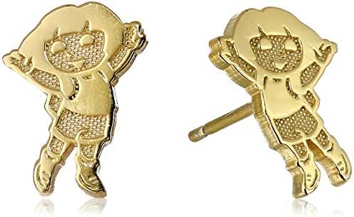 Nickelodeon Gold-Plated Silver Dora Stud Earrings