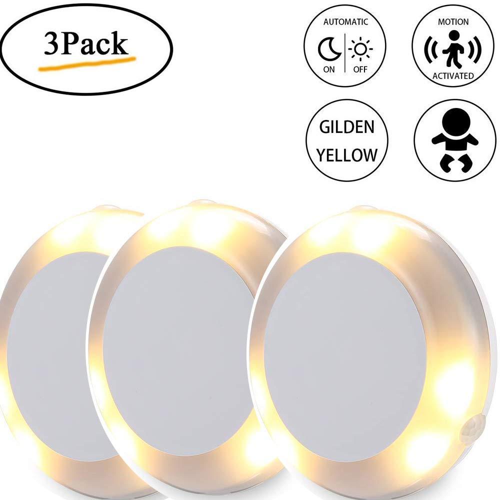 360 °Motion Sensor Light, Upgraded Cordless Battery-Powered LED Night Light/Stair Closet Light/Under-Cabinet Lamp/Wall Light Stick On Anywhere Lamp for Home, Kitchen, Cabinet, Closet, Stairs, (1 PACK) 360 °Motion Sensor Light LEEGOAL