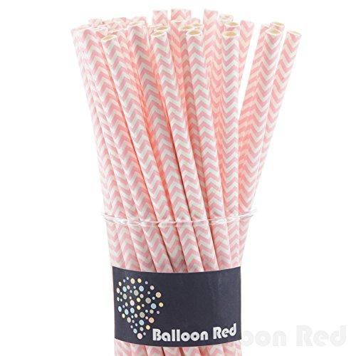 Biodegradable Paper Drinking Straws (Premium Quality), Pack of 100, Chervon - - Warehouse Candyland