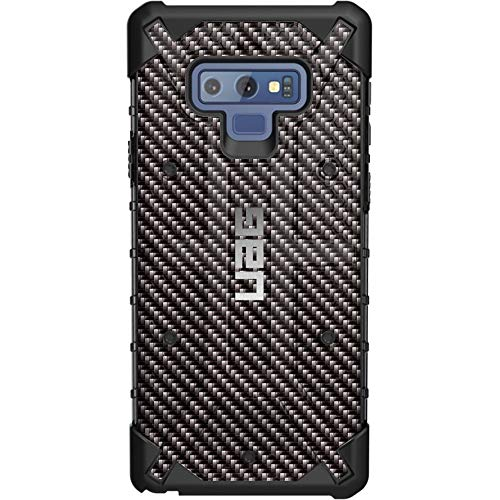 Limited Edition Customized Prints by Ego Tactical Over a UAG-Urban Armor Gear Case for Samsung Galaxy Note 9 - Black Carbon Fiber ()
