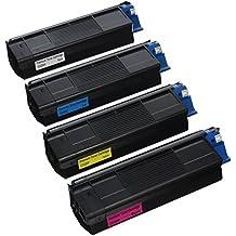 Ink Pipeline Premium Compatible Cartridge Combo Pack (on cartridge of each color) for:Okidata C3100, C3100n, C3200, C3200n Series Oki-43034804 combo