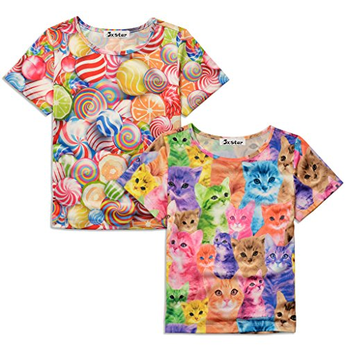 Jxstar T shirt Casual Lollipop Pattern product image