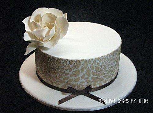 Designer Stencils C410 Camilla Rose 3-tier Set Cake Stencils, Beige/semi-transparent by Designer Stencils (Image #2)