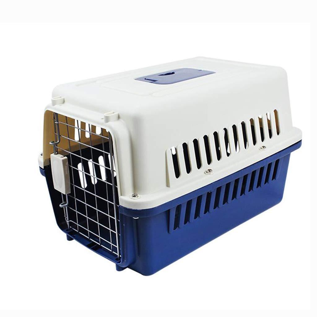 Dark bluee XL (90x64x69cm) Dark bluee XL (90x64x69cm) RMJAI Pet Air Box Travel Carrying Dog Cat Box Portable Pet Nest Outdoor Dog House Small Animal Beds (color   Dark bluee, Size   XL (90x64x69cm))