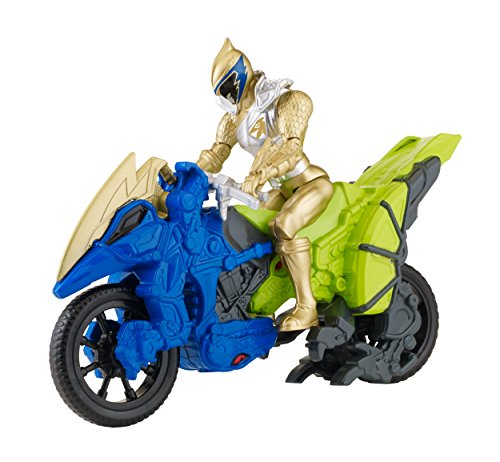 "Power Rangers Dino Super Charge - Dino Cycle with 5"" Gold Ranger Action Figure"