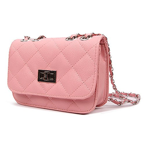 SD Women Classic Mini Crossbody Shoulder Handbag Satchel Bag (Indy Pink)
