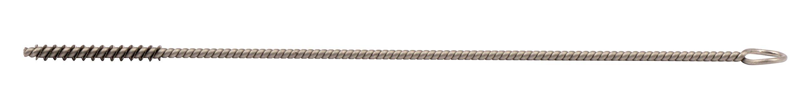 Weiler 21249 Hand Tube Brush, Single Stem/Single Spiral, 1/8'', 0.03'' Stainless Steel Wire Fill, 1'' Length (Pack of 10)