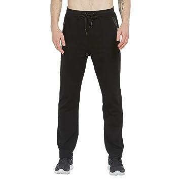 f1144f7575 Tansozer Mens Joggers Slim Fit Jogging Bottoms Zip Pockets