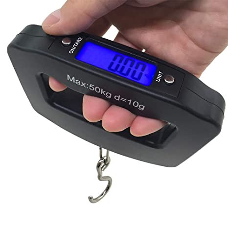 8791f13c562c AFUNTA 50Kg 10g LCD Home Electronic Digital Portable Hanging Weight Hook  Travel Luggage Scale
