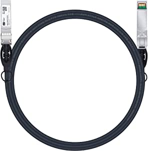 SFP Cable, 10G SFP+ DAC, 3M, 10GBASE-CU Passive Direct Attach Copper Twinax Cable for Cisco SFP-H10GB-CU3M, Netgear, D-Link, QNAP, Mikrotik, Supermicro,Zyxel,Linksys, Open Switch Devices