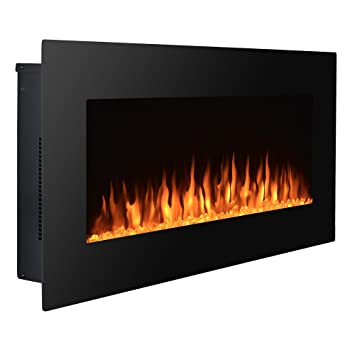 """High Quality 36/"""" Wall Mount Electric Fireplace MultiColor LED Backlight"""
