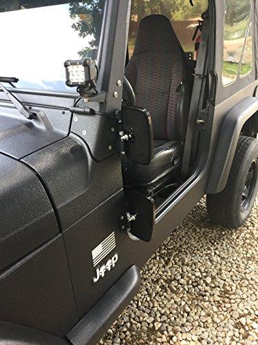 Doors Off - Jeep Wrangler Side Hinge Mirrors (1976-2017) JK TJ CJ YJ
