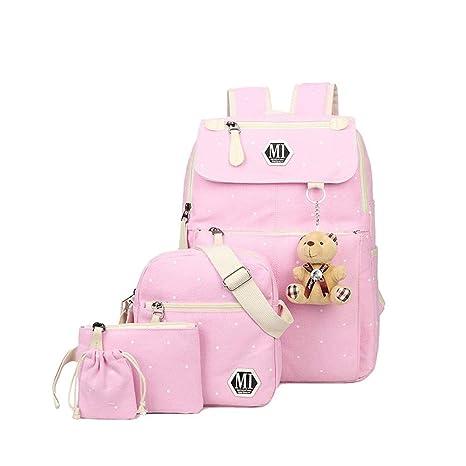 Westtreg Women School Mochilas College Schoolbag para Adolescente Chica y Niños Mochila Shoulder Bag, rosa