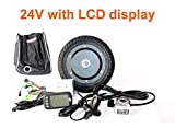 L-faster 350W 8 INCH Electric Scooter BRUSHLESS HUB Motor KIT CAN with LCD Display WUXING Throttle DIY Electric Scooter Town 7 XL (FLD24V LCD)