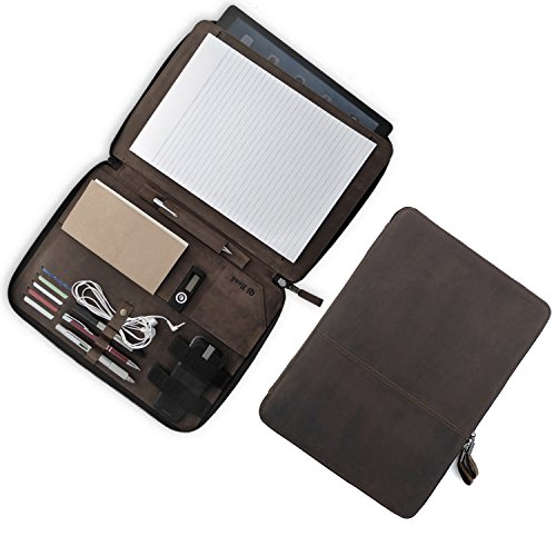 Zippered Leather 10 Pen Case - 2