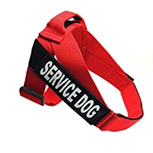 Pet Lightweight Jump Resistant Breast Strap Service Dog Explosion-proof Chest Belt Outdoor Strengthen Durable Comfortable Safety Harnesses for Medium and Large Dog(Red) (S)