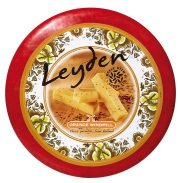 Leyden Cumin Cheese (4Lb cut) form Holland (Dutch Cheese)