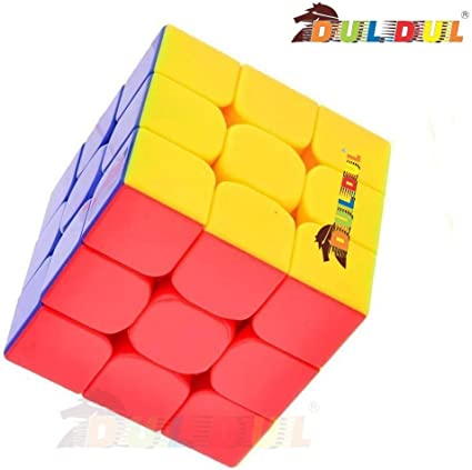 DUL DUL Asian Hobby Crafts TamBoora High Stability Stickerless Smooth Swing Cube for Faster Movement (3x3x3, Assorted)