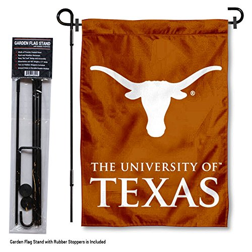 College Flags and Banners Co. Texas Longhorns Garden Flag with Stand Holder