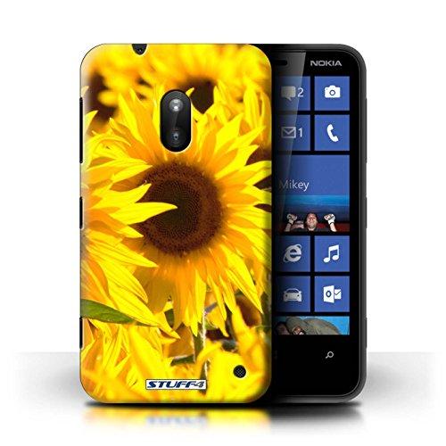 Kobalt® Imprimé Etui / Coque pour Nokia Lumia 620 / Tournesols conception / Série floral Fleurs