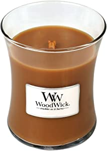 WoodWick Hot Toddy Glass Jar Scented Candle, Medium 10 oz.